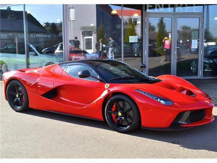 A red Ferrari LaFerrari is being sold for an astonishing EUR10 million