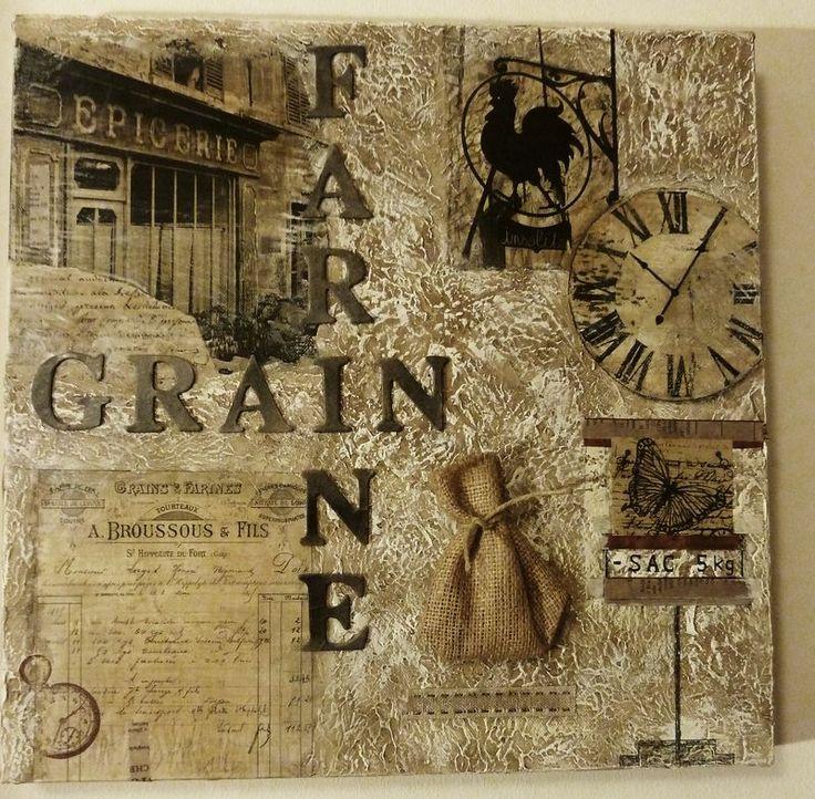 """Tableau """"Grain et Farine"""" - Photo de Peinture et cadres - L'Atelier de Drine"""