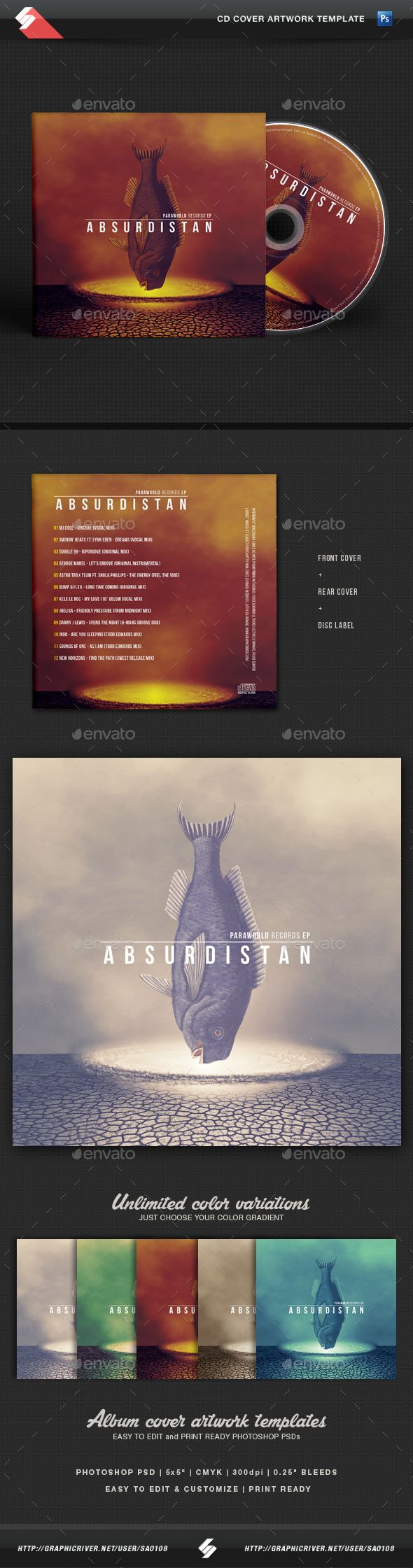Absurdistan - CD Cover Artwork Template