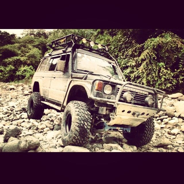 When rocks end up looking like pebbles. #mitsubishi #offroad #rig #4x4 #4x4ph…