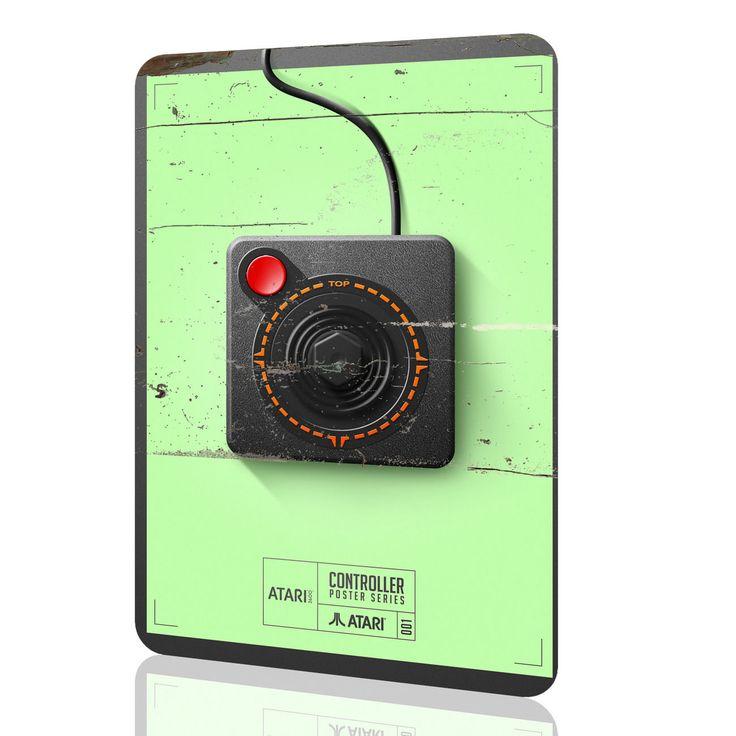 Metal Tin Sign Controller Collectors Atari 2600 Video Game Arcade Poster #1 Rust