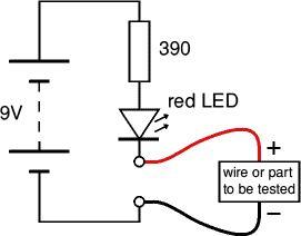 Circuit diagram for simple tester