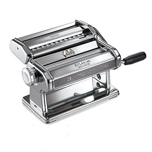Marcato Atlas Pasta Machine, Includes 180-Millimeter Pasta Machine with Pasta Cutter, Hand Crank, and Instructions