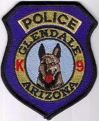 Glendale k9 Police Patch (AZ)