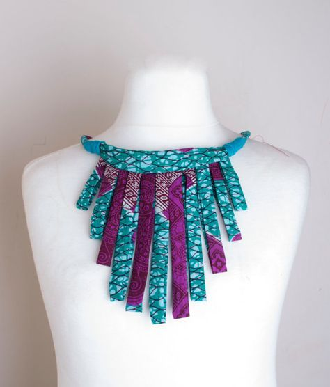 African Tribal statement Necklace por Houseofola en Etsy