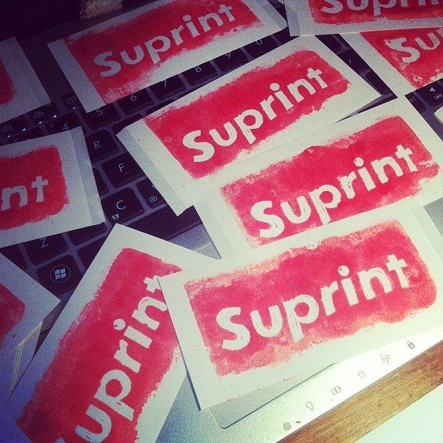 @pulpmatter's photo: pumpin' out pulp #pulpmatter #suprint #linocut #supremeny
