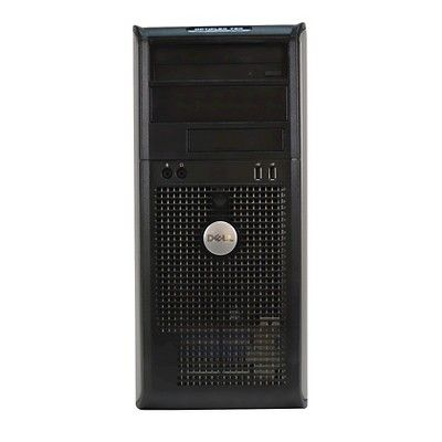 Dell 760-T Pre-Owned/Certified Desktop Computer with C2D-2.93Ghz/4GB Ram/250GB Hdd/Dvd-RW/Windows 10 Pro (64Bit) - Dark Silver (TT5-0023), Grey