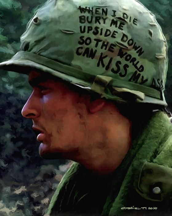 Charlie Sheen #2 @ Platoon - Oliver Stone 1986 Original size of the work: 80x100cm Large Size Digital Painting Art print available @ http://fineartamerica.com/featured/charlie-sheen-2-in-platoon-gabriel-t-toro.html