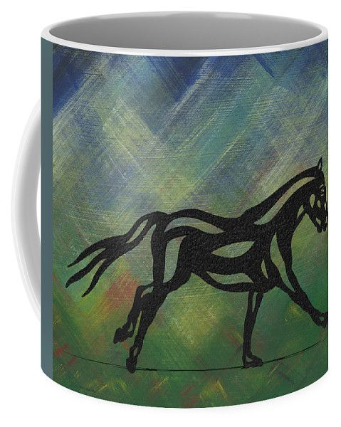 Coffee Mug | Clementine - Abstract Horse by Manuel Süess | Learn more: http://artprintsofmanuel.com/products/clementine-abstract-horse-manuel-sueess-coffee-mug.html