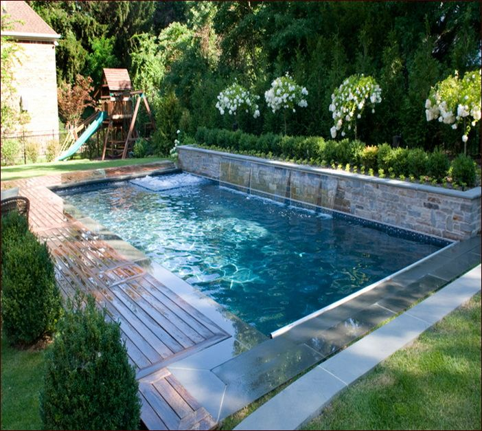 This pool with inset small spa would be perfect in our yard. Pool would have to be a bit smaller...