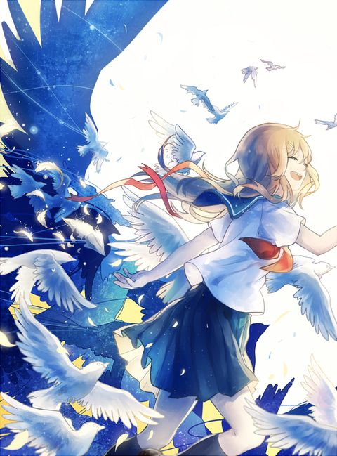 Cute Anime Boy Girl Phone Wallpaper 「go 」 「domik」のイラスト Pixiv 資料 Pinterest アニメ絵 感動
