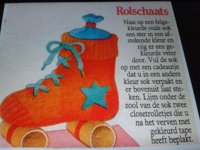 Sinterklaas surprise: Rolschaats van een sok