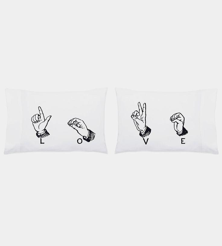 Love Sign Language Pillowcase Set