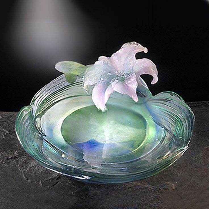 "Flower Figurine (Cherish) - ""Lily, May"" – Deluxe Collectible Glass Art 