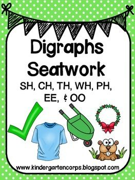 Common Consonant Digraphs Word Lists