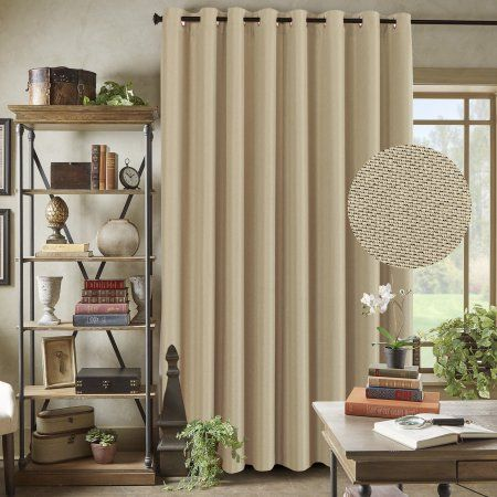 H.VERSAILTEX Functional Room Divider Curtain Textured Linen Extra Long And  Wide Thermal Insulated Panels
