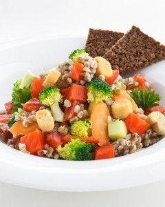 New Nordic Cuisine Smoked Salmon with Pearl Barley