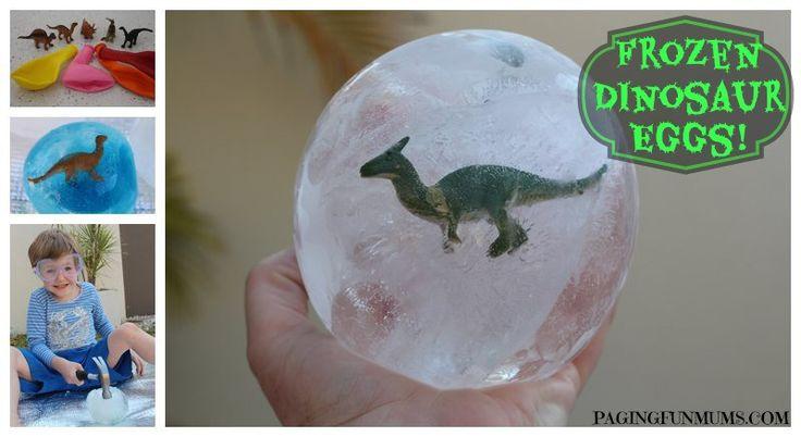 Frozen Dinosaur Eggs! Een leuk idee voor wat verfrissing in de zomer of voor een verjaardagfeestje met het thema dinosaurus. Wek deze dinosaurus ook digitaal tot leven: http://www.wpg.be/manteau/i-dinosaurussen .