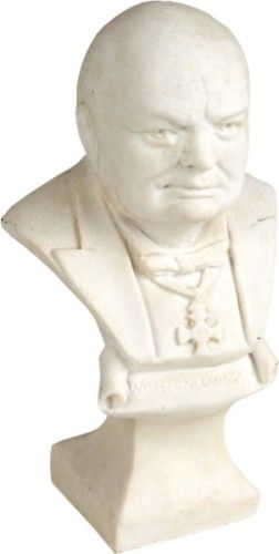 CHURCHILL, Sir Winston. Bust of Churchill. [c.1946]. #sculpture #ww2