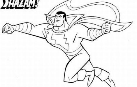 marvel coloring pages shazam | Stuff I want to make ...