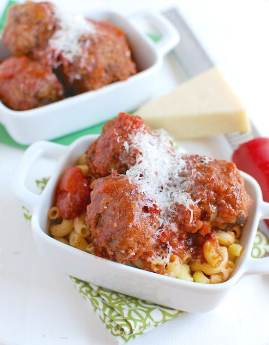 These Crockpot Meatballs make an easy weeknight dinner. Use ground beef or turkey, put them in a slow cooker and make your next Italian night one to remember!