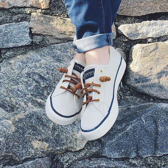 Who says casual has to be ordinary? Rock out in the sea-worthy sneakers like the Seacoast from Sperry. @ericaaube