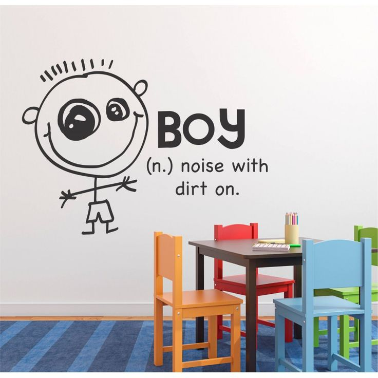 "VINYL WALL STICKER ""BOY"""