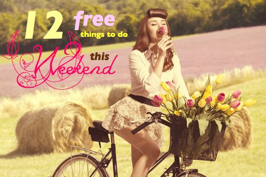 When I consider my options in terms of free things to do this weekend, I just want to jump on a bicycle packed with tulips and ride around a paddock. Well, you get my drift. Free is fun! Free is frugal. Free is the most fun you can have and free doesn't cost you a cent! A woman just loves free!