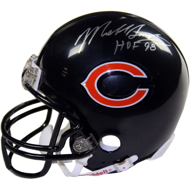Mike Singletary Signed Chicago Bears Replica Mini Helmet w HOF 98 Insc - Football Hall of Famer Mike Singletary has hand-signed this Chicago Bears Replica Mini Helmet and inscribed HOF 98-Mike Singletary is the legendary Hall Of Fame linebacker of the Chicago Bears and was a member of the 1985 Super Bowl Champion team. Singletary was a 10x Pro Bowl Selection and is widely considered one of the 5 best linebackers of all time. Gifts > Licensed Gifts > Nfl > Chicago Bears. Weight: 1.00