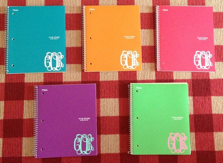 Notebook monogrammed adhesives