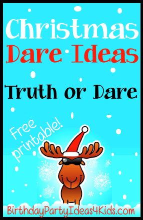 Christmas Dares for the Truth or Dare Game