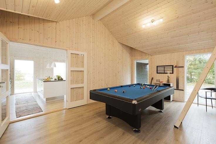 Trend-serien spænder fra 70 m² - 200 m² bolig – fra 120 m² anbefaler vi, at der indrettes et aktivitetsrum. Så kan man hygge sig i al slags vejr – hele året rundt.  Underholdning for alle aldre Aktivitetsrummet udstyres for det meste med bordtennis, billard, dart, PlayStation eller Wii, og nogle gange også en bar.