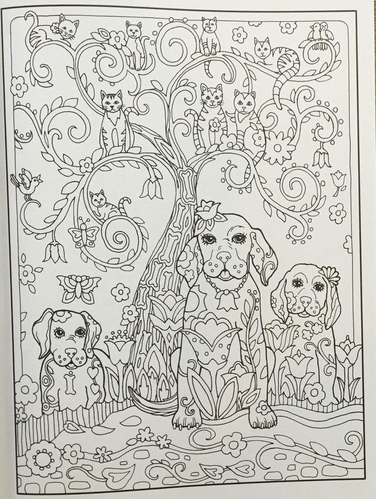Amazon Com Creative Haven Dazzling Dogs Coloring Book