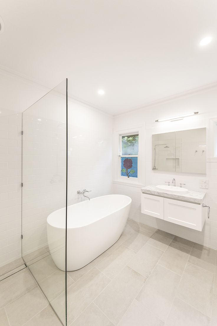 Brunswick Bathroom Renovation: A Traditional White And Grey Heritage Bathroom Renovation