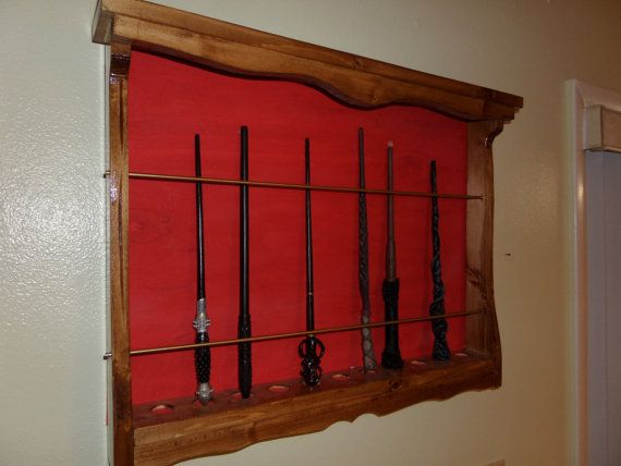 Custom made brand new wand / magic wand wall display    case. Fits all magic wands including the Harry Potter Series, this    is a generic wand