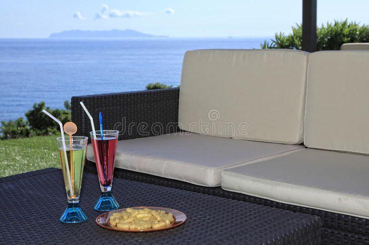 Drink På Havet Arkivfoto