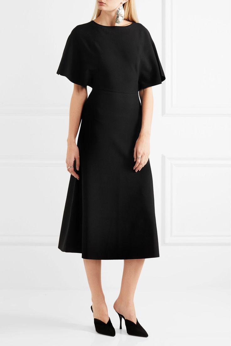 Valentino   Кабо-эффект креп платье   NET-A-PORTER.COM