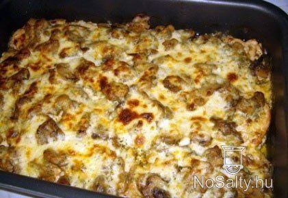 Gombás csirke sajtszósszal