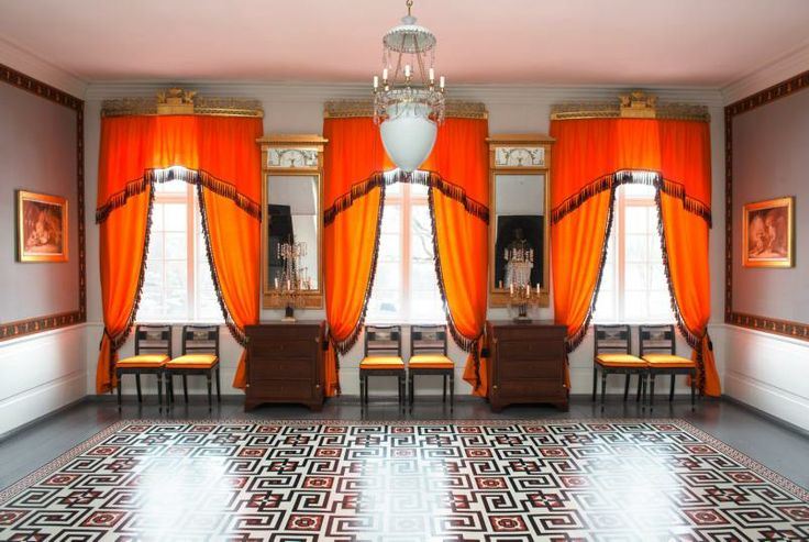 Dining Room - Eidsvollsbygningen is a historic Manor House in Eidsvoll in Norway, where the Constitution of Norway was made and signed on 17 May 1814. Photo: Espen Grønli