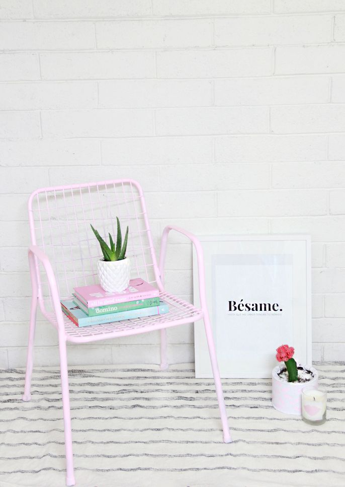 DIY Thrifted Trash Chair Makeover