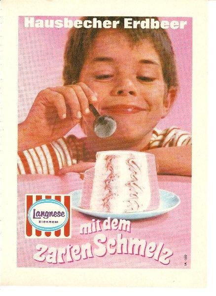 Glückliche Kinderaugen :)  #Werbung für #Langnese Eis von 1969