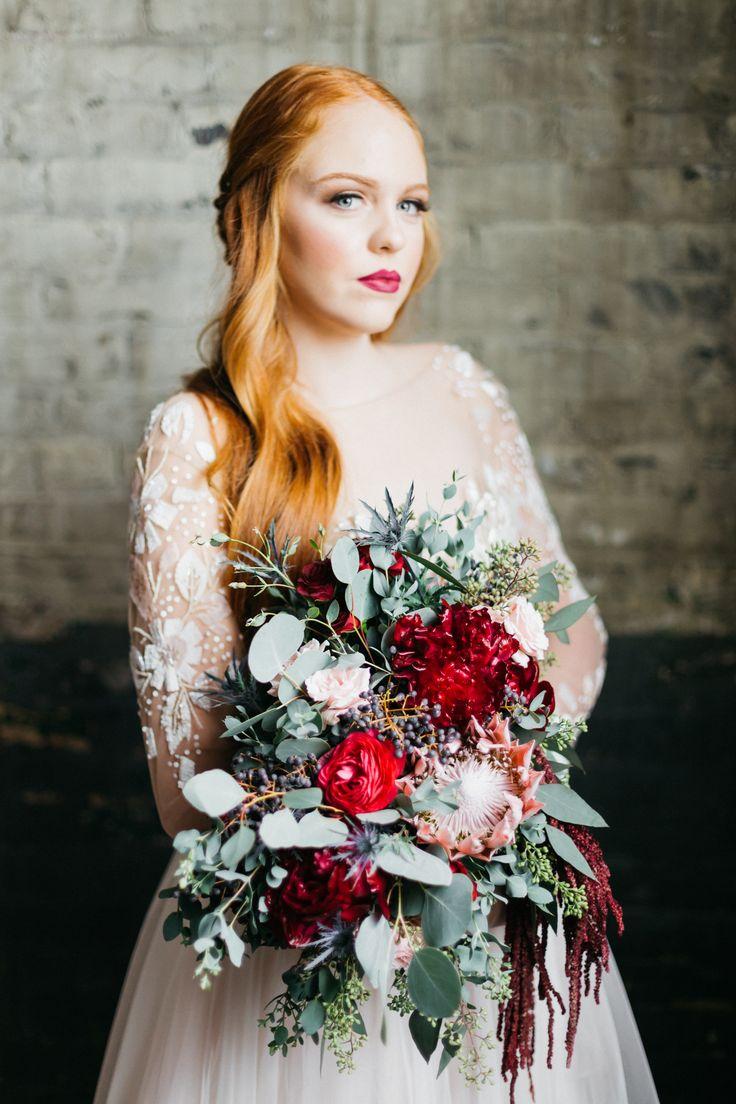 Wintery Bridal Inspiration from Winnipeg. Flowers by the Floral Fixx, Photos by Charmaine Mallari  #bride #winterwedding #hayleypaige #wedding #inspiredeleganceevents #itsallinthedetails #weddingdetails #styledshoot #weddinginspiration