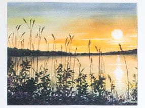 Limited Edition Digital Fine Art Print, 11 X 14, Emma Lake Sunset, Signed and Numbered by Jen Unger. by JenUngerFineArts on Etsy