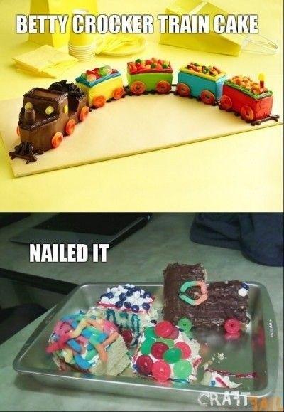 Betty Crocker Train Cake - NAILED IT!