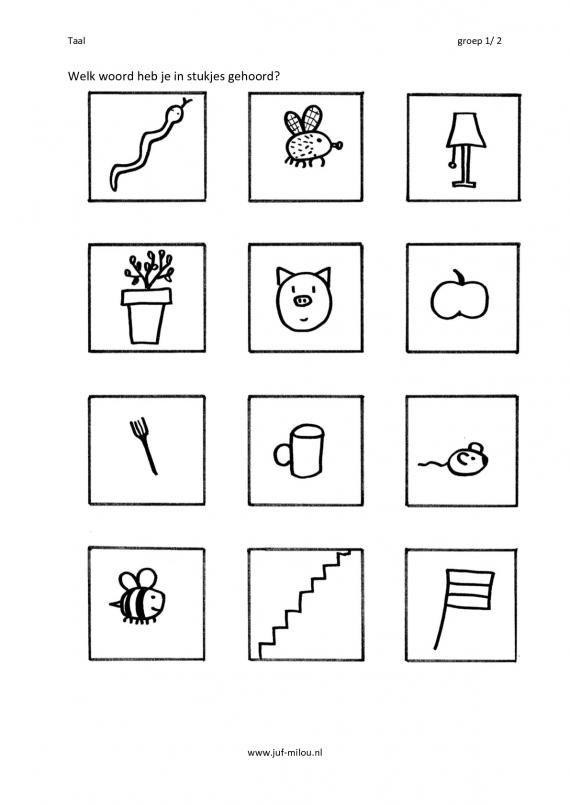 Dit werkblad en nog veel meer in de categorie auditieve synthese kun je downloaden op de website van Juf Milou.