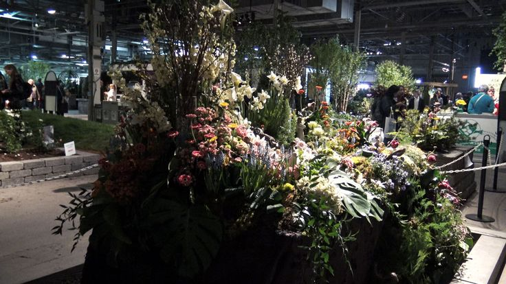 NewCa.com: 2016 Canada Blooms. Floral Alley. Beautiful central floral alley of the Canada Blooms show.  #canadablooms #canadablooms2016 #florist #floral #florals #amazing #garden #design #flowers #flower #plants