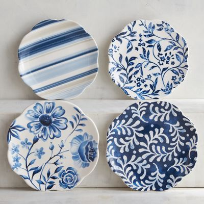 Azure Floral Appetizer Plate Set | Pier 1 Imports