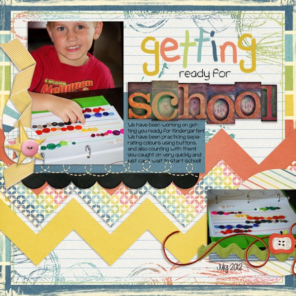 layout made using Schooled digital scrapbook kit by Simple Girl ScrapsScrapbook Kit