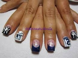 New York Yankees Nails...especially love the second from the right