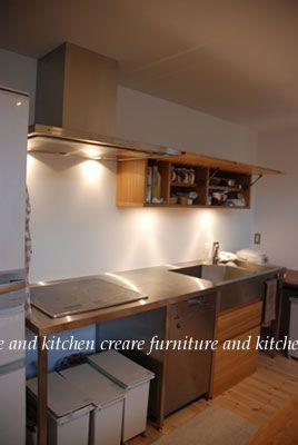 キッチンのゴミ箱を置く場所 オーダーキッチンとキッチンボード